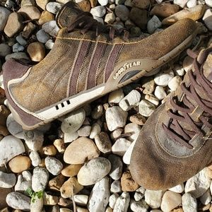 Team Adidas brown leather goodyear shoes